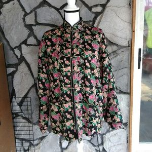 Floral High Collared Traditional Jacket.